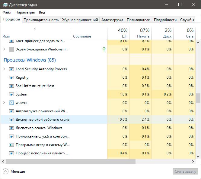 как отключить dwm.exe windows 8